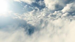 Nubes mullidas blancas metrajes