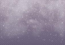 Nubes o cubiertas de la nieve ilustración del vector