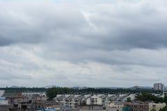 Nubes oscuras Foto de archivo libre de regalías