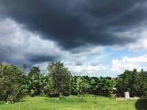 Nubes oscuras Imagen de archivo libre de regalías