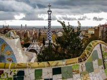 Nubes oscuras en Barcelona Foto de archivo libre de regalías