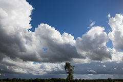 Nubes oscuras sobre el campo Imagen de archivo