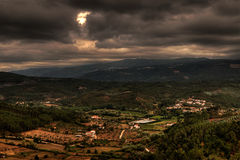 Nubes oscuras sobre Portugal Fotografía de archivo libre de regalías