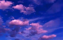 Nubes púrpuras Fotografía de archivo libre de regalías