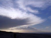 Nubes puestas a contraluz Imagen de archivo libre de regalías