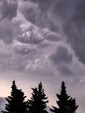 Nubes que amenazan Imagenes de archivo