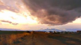 Nubes que caen Fotos de archivo libres de regalías