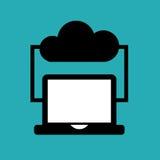 Nubes que computan diseño stock de ilustración