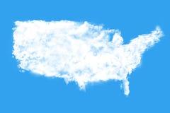 Nubes que forman la forma del mundo Foto de archivo