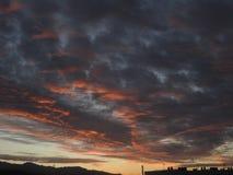Nubes rojas fotos de archivo