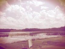 Nubes rojas Imagenes de archivo