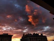 Nubes rosadas fotos de archivo libres de regalías