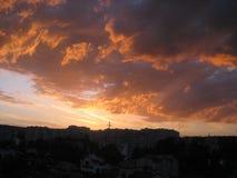 Nubes rosadas Foto de archivo libre de regalías