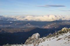 Nubes sobre bosque Imagen de archivo libre de regalías