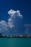 Nubes sobre cancun Foto de archivo