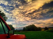 Nubes sobre Dodge Imagenes de archivo