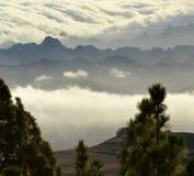 Nubes sobre el anaga 3 Fotografía de archivo