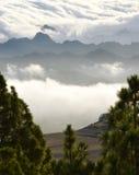 Nubes sobre el anaga 2 Imágenes de archivo libres de regalías