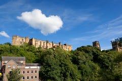 Nubes sobre el castillo de Durham Fotografía de archivo libre de regalías