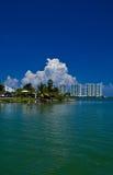 Nubes sobre el centro turístico de cancun Fotografía de archivo