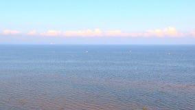 Nubes sobre el mar almacen de metraje de vídeo