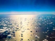 Nubes sobre el mar Fotografía de archivo