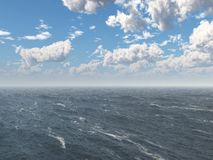Nubes sobre el océano stock de ilustración