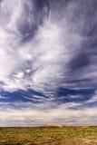 Nubes sobre el paisaje marroquí Fotografía de archivo
