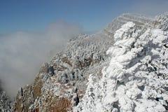 Nubes sobre el panorama tres de Sandias foto de archivo libre de regalías