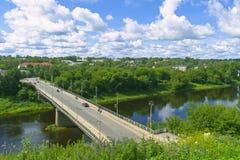 Nubes sobre la ciudad de Rzhev Fotografía de archivo libre de regalías