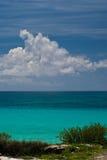 Nubes sobre la playa de Cancun Imagen de archivo