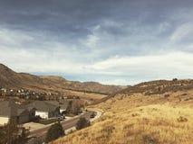 Nubes sobre las colinas de Colorado Imagen de archivo libre de regalías