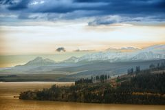 Nubes sobre las montañas de Tatra Fotografía de archivo