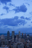 Nubes sobre Montreal Imagen de archivo libre de regalías
