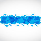 Nubes sociales del discurso del grupo de los media Foto de archivo libre de regalías