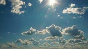 Nubes Sunny Day Time Lapse almacen de metraje de vídeo