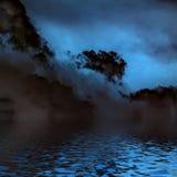 Nubes surrealistas, oscuras. imagen de archivo libre de regalías
