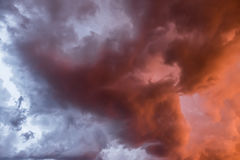 Nubes tempestuosas Foto de archivo