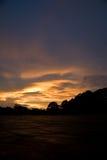 Nubes tempestuosas de la puesta del sol Foto de archivo libre de regalías