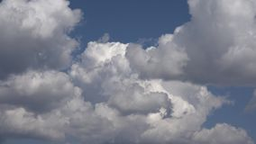 Nubes tempestuosas dramáticas en el cielo, visión nublada, lluviosa almacen de video