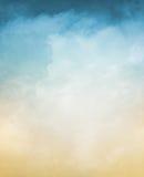 Nubes texturizadas con pendiente Foto de archivo