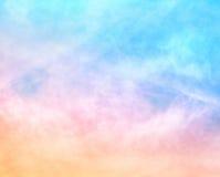 Nubes texturizadas del arco iris Fotografía de archivo