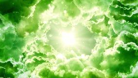 Nubes verdes de la fantasía