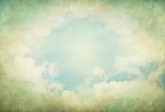 Nubes verdes del vintage Fotos de archivo