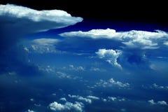 Nubes - visión desde el vuelo   Fotos de archivo libres de regalías