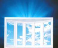 Nubes vistas con Windows Imágenes de archivo libres de regalías