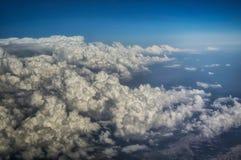 Nubes vistas de un aeroplano Imagen de archivo libre de regalías