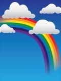 Nubes y arco iris Imagen de archivo libre de regalías