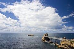 Nubes y Biarritz Foto de archivo
