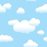 Nubes y cielo inconsútiles Fotografía de archivo libre de regalías